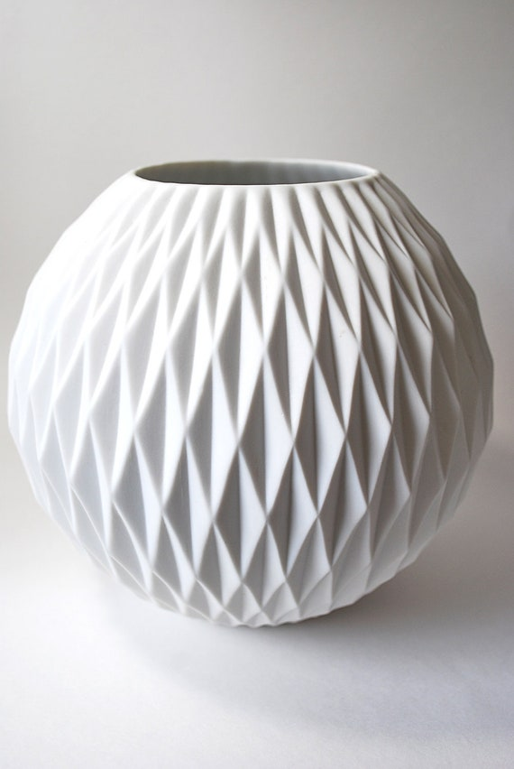 Amazing Large Modernist Matte Porcelain Vase Thomas Germany