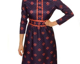 Vintage 1970s Dress / 70s Vintage Maxi-dress / Vintage Emilio Borghese Dress