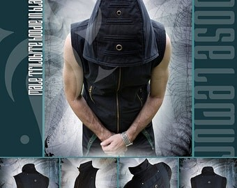 Trilobite Holster Hoodie in Black Denim lined with Polar Fleece Ver 2 by Loose Lemur Clothing