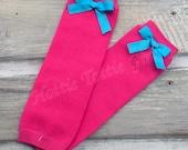 Leg Warmers Pink Leg Warmers Aqua Turquoise Bow Easter Ruffle Diaper Cover Ruffle Bloomers Newborn Baby Toddler Ruffle Bloomer Sets 5824