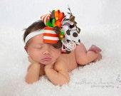 Big Bow Hair Bow, Thanksgiving Bow,  Baby Bow, Newborn Bow, Toddler Bow, Hair Bow, Baby Girl Bow, Baby Headband, Toddler Headband