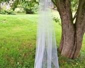 Custom Chapel Length Wedding Veil Made to Order 1 Tier Pencil