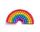 Rainbow Anywhere Clip - Multicoloured Sparkly Hair Accessory - ROYGBIV Hair Barette - Kitsch Rockabilly Kawaii Hair Accessory