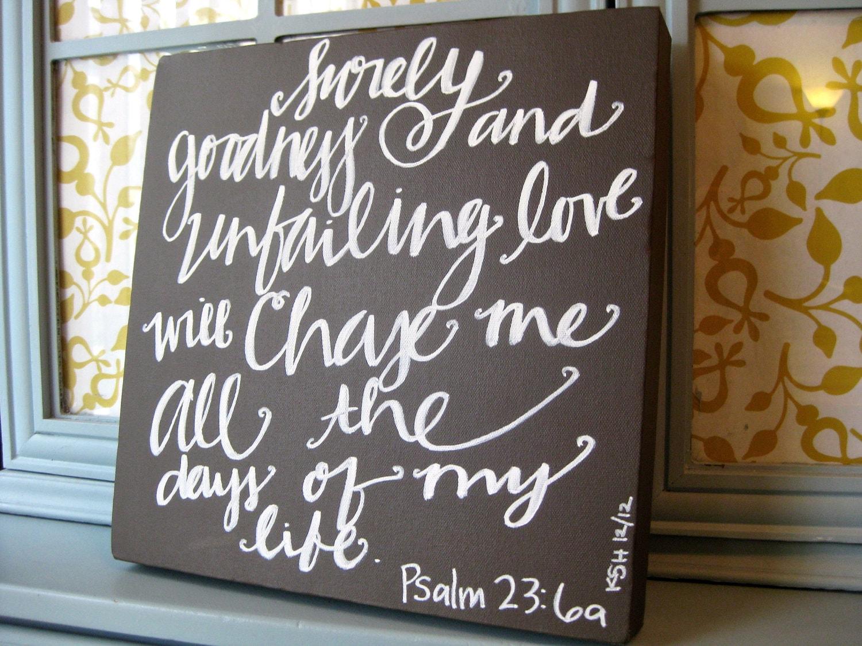 12x12 Scripture Wall Decor Custom Hand Lettering Bible