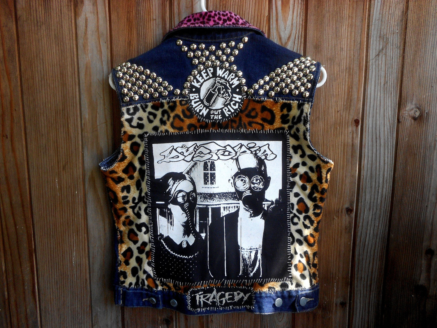 Dystopia Patched And Studded Crust Punk Vest