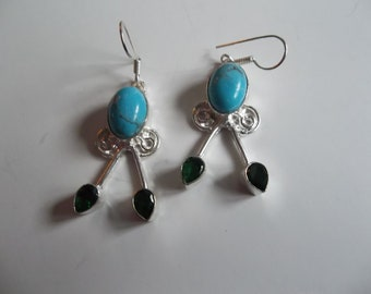 southwest jewelry, southwestern jewelry, silver earrings, Soft Grunge, hipster jewelry, black friday ,cyber monday, Dangle & drop earrings