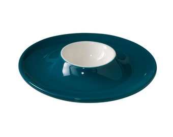 "Egg Saucer ""Is that Plastic"" - Petrol Blue"