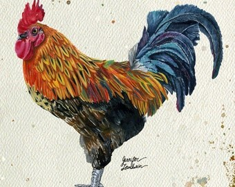 Art Print. Rooster Harlow