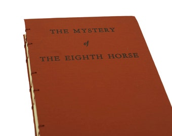 1949 HORSE MYSTERY Vintage Notebook Journal