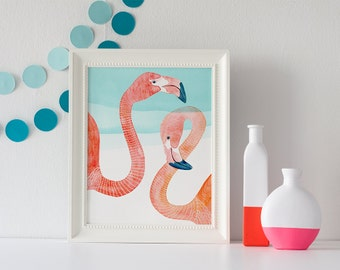 PRINT / Flamingo Pair