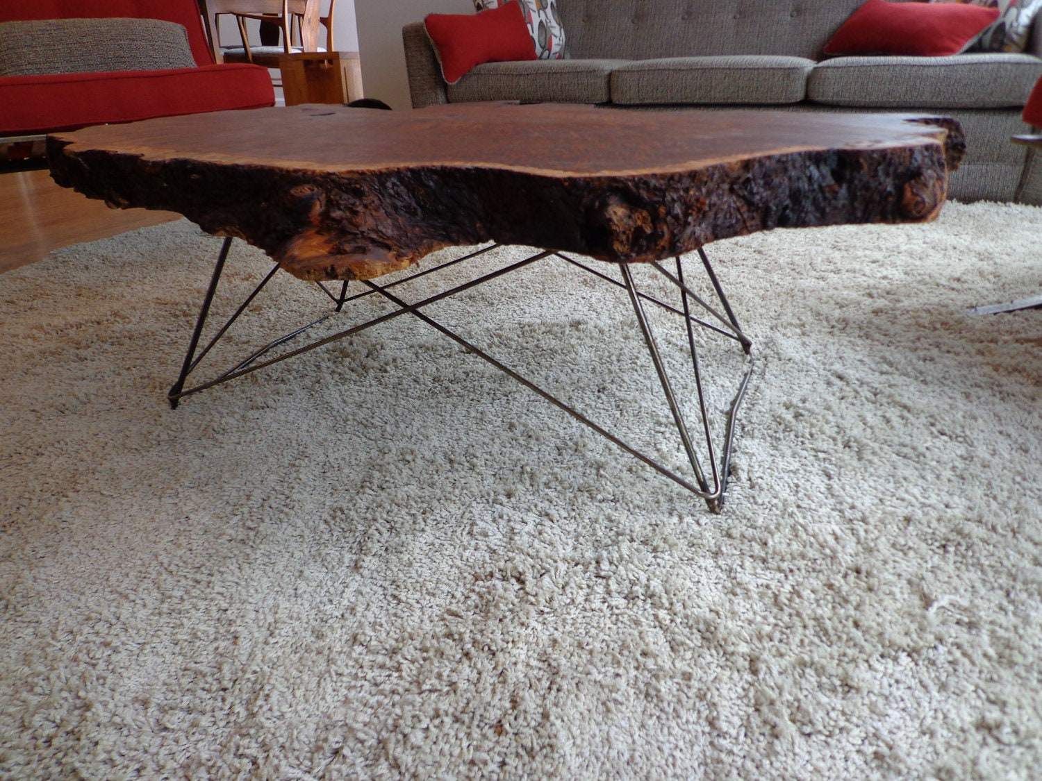 Mid Century Cats Cradle Coffee Table Base Raw Steel Base