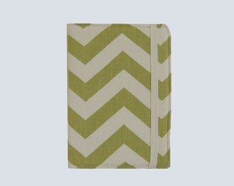 Kindle Cover Hardcover, Kindle Case, eReader, Kobo, Kindle Voyage, Kindle Fire HD 6 7, Kindle Paperwhite, Nook GlowLight Chevron Green