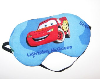 Sleep Mask -  Lighting McQueen - Comes as Shown - Handmade - Fits Kids to Adults