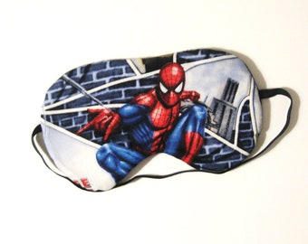 Sleep Mask -  Spiderman - Comes as Shown - Handmade - Fits Kids to Adults