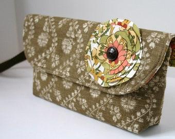 Tan Wristlet Bag, Catey Bag, Clutch Bag