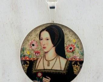 Anne Boleyn House of Tudor Sterling Silver Pendant tartx