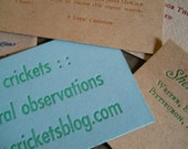 one-color custom letterpress business cards
