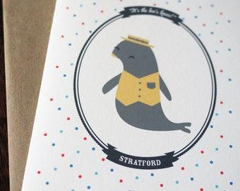 Animal Tea Party Blank Card (1)