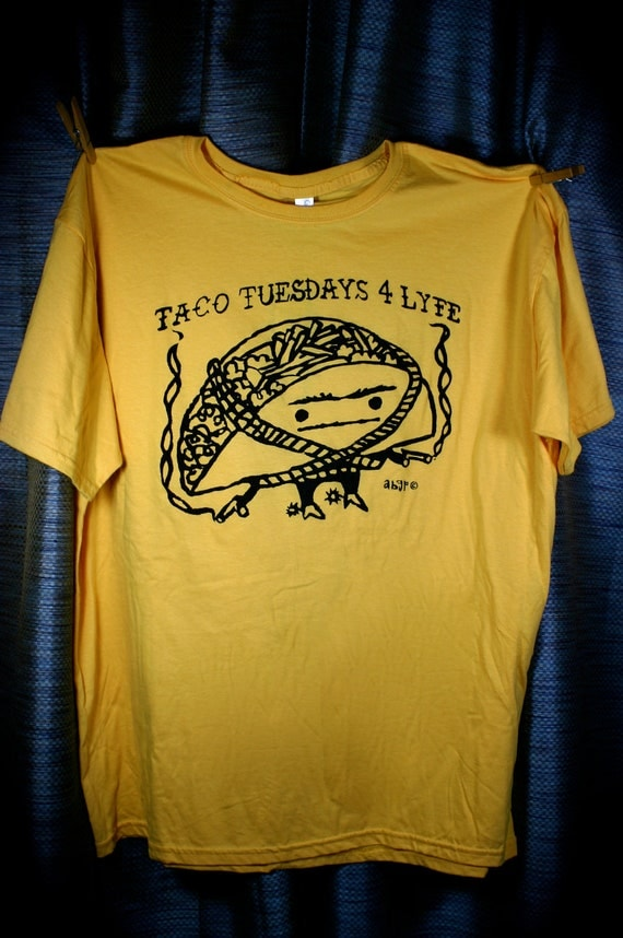 Extra Large Taco Tuesdays 4 Lyfe Maíz Yellow Tee MXL01
