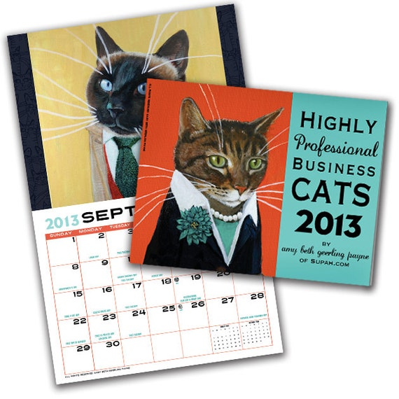 CLEARANCE SALE - Business Cats Wall Calendar 2013