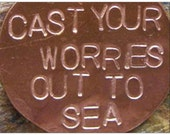Cast Your Worries Out To Sea by Jean Skipper - Photgraphic Post Card and Miniature Art Print with Envelope