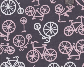 Fat quarter - Bicycles in Bloom - Michael Miller cotton quilt fabric