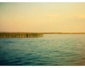 Water Photograph - Michigan - Summer - Lake  Fine Art Photograph - Paint the Sky  - Great Lakes Photography - Turquoise - Yellow - Bock