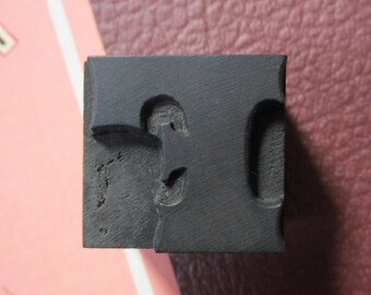 Letter F Antique Letterpress Wood Type Printers Block