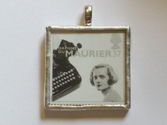 Postage Stamp Pendant - Daphne du Maurier