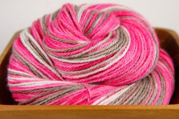 Neapolitan - Bunny Sock Yarn - Angora Rabbit Superwash Merino Wool -  2 oz. Fingering or Sock Weight
