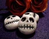 Dia De Los Muertos Cabochons Grinning Skulls (3 pc)