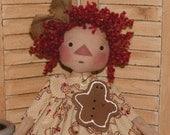 Molly Spun Wool Doll Hair  Raggedy Red