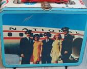 Vintage 60s National Airlines Pilots Stewardess Mod Pan Am American Lufthansa United Eastern Metal Lunchbox Ohio Art DC-8