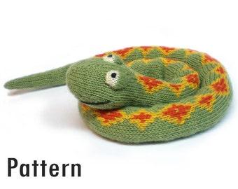 PDF Pattern - Sophie the Sleepy Snake - Knitting