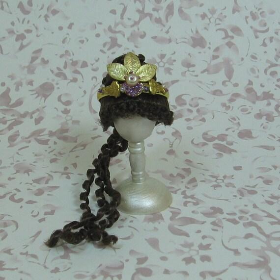 Dollhouse Miniature Golds and Purples Princess/Fairy Tiara/Crown