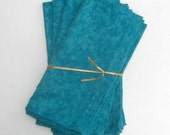 Teal Turquoise Blue Cloth Napkins Set of 4