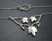 RESERVED Custom Order Sterling Silver Ivy Necklace in Matte Finish