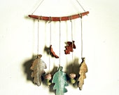 Great Falling Leaves,  Autumn Oak Leaf and Acorn Mobile, Made to Order
