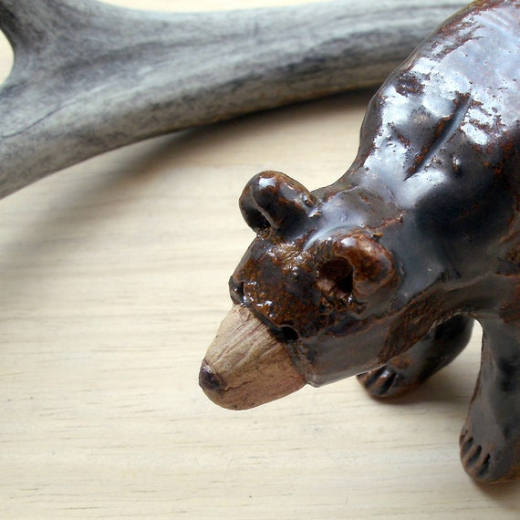 Woodland Brown Bear Stoneware Sculpture