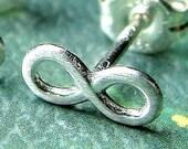 Infinity Earring Single Stud Post Earring in Sterling Silver