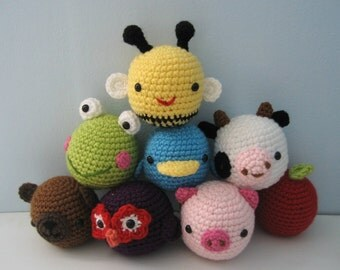 Amigurumi Crochet Animal Toys for Baby Pattern Digital Download