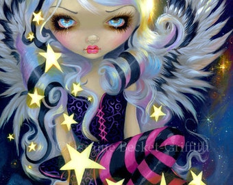 Angel of Starlight lowbrow galaxy fairy art print by Jasmine Becket-Griffith 8x10