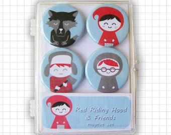 Little Red Riding Hood Magnet Set