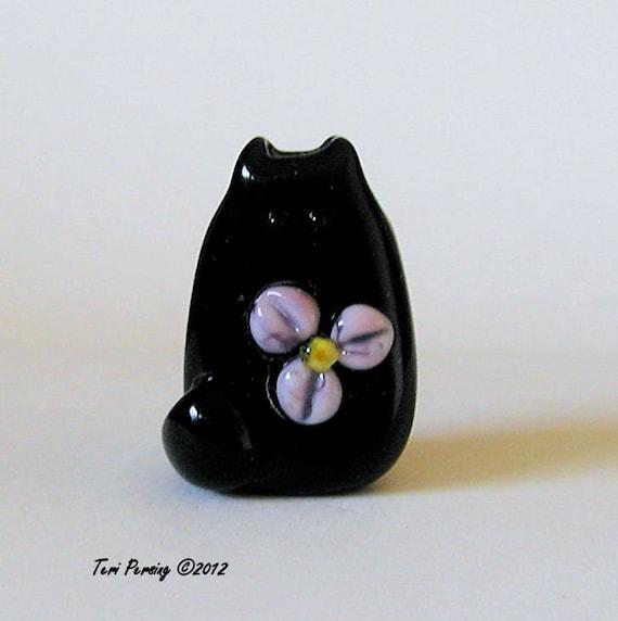 Cat Bead Handmade Lampwork Focal - Quincy FatCat