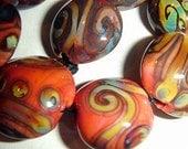Connie Beads... Burnt Orange...9 beads