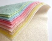 "PASTELS Premium Wool Blend Felt Pack 10x 6"" squares"