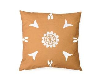 Yellow Pillow 20x20 Suzani Moroccan African