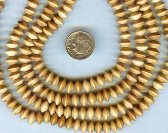 AA Quality Tea Dyed Bone Disc Spacer Beads 8mm 50 pieces