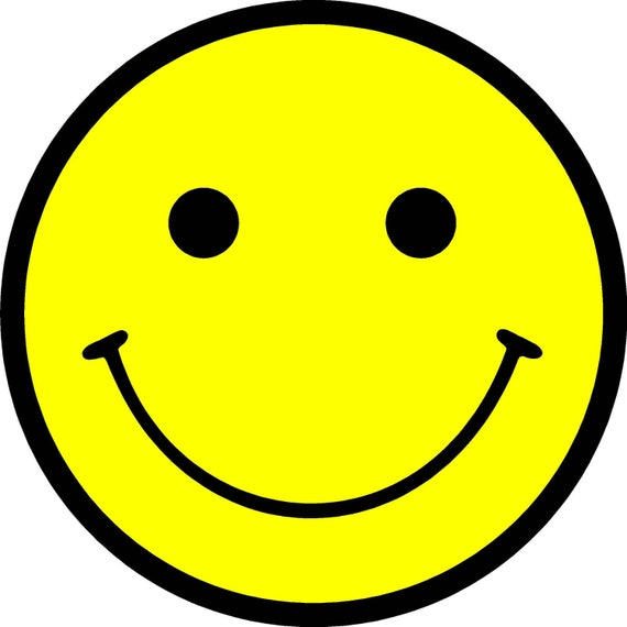 Smiley Face Vinyl Decal Sticker Adhesive in 4 inch size