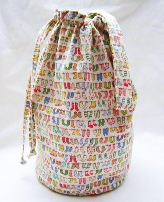 SALE - Sock Knitting Project Bag - Knit Socks